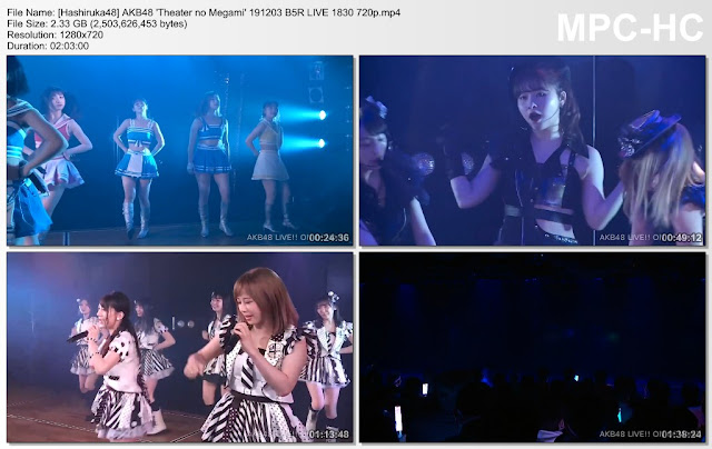AKB48 'Theater no Megami' 191203 B5R LIVE 1830