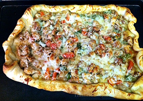 Chicken and Peppers Tart Recipe