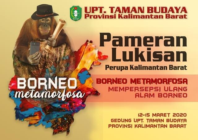 pameran lukisan borneo metamorfosa taman budaya kalbar