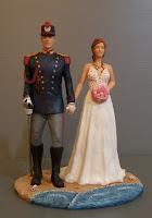 sposini personalizzati per torta cake topper sposo uniforme storica polizia orme magiche