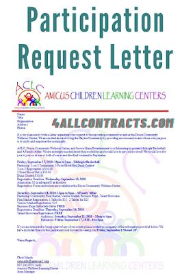Participation Request Letter - word