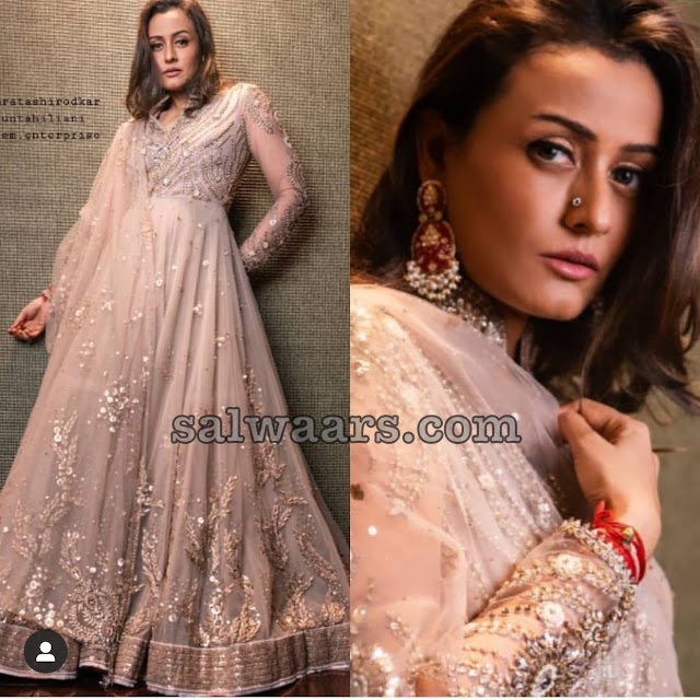 Namrata Shirodkar in Georgette Salwar