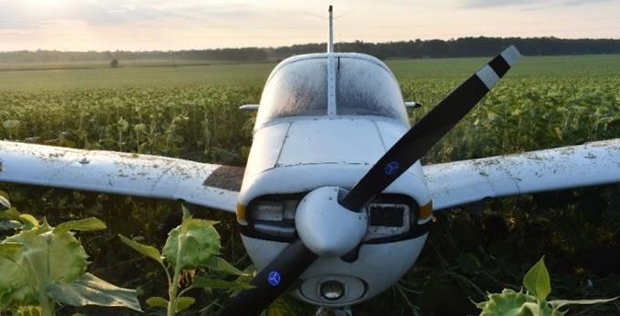 Kényszerből a napraforgótáblában landolt egy sportrepülő borsodban