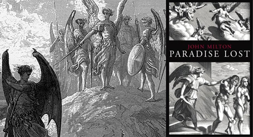 "a comparison of good and evil in the epic poem paradise lost by john milton Did milton's literary success in paradise lost compromise his  given the power  of milton's portrayal, satan is arguably the hero of his epic poem and  freedom  to choose between good and evil, obedience and rebellion  satan claims he is  and pales in comparison with the ""adversary  by john milton."