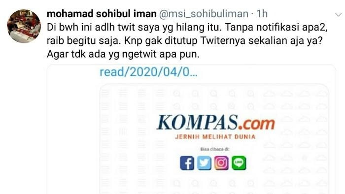 Postingan 'Mensesneg Revisi Pernyataan Fadjroel' Hilang, PKS: Kenapa Twitter Tidak Ditutup Sekalian?