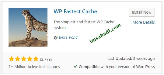 Cara Setting Plugin WP Fastest Cache Terbaru