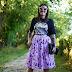 Alice in wonderland tshirt and skirt