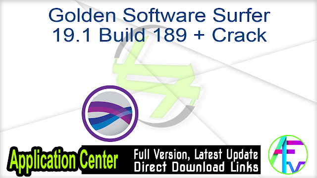Golden Software Surfer 19.1 Build 189 + Crack