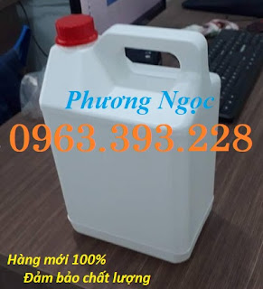 Can đựng hóa chất 5L, can nhựa HDPE, can trắng 5 lít, can nhựa loại dày