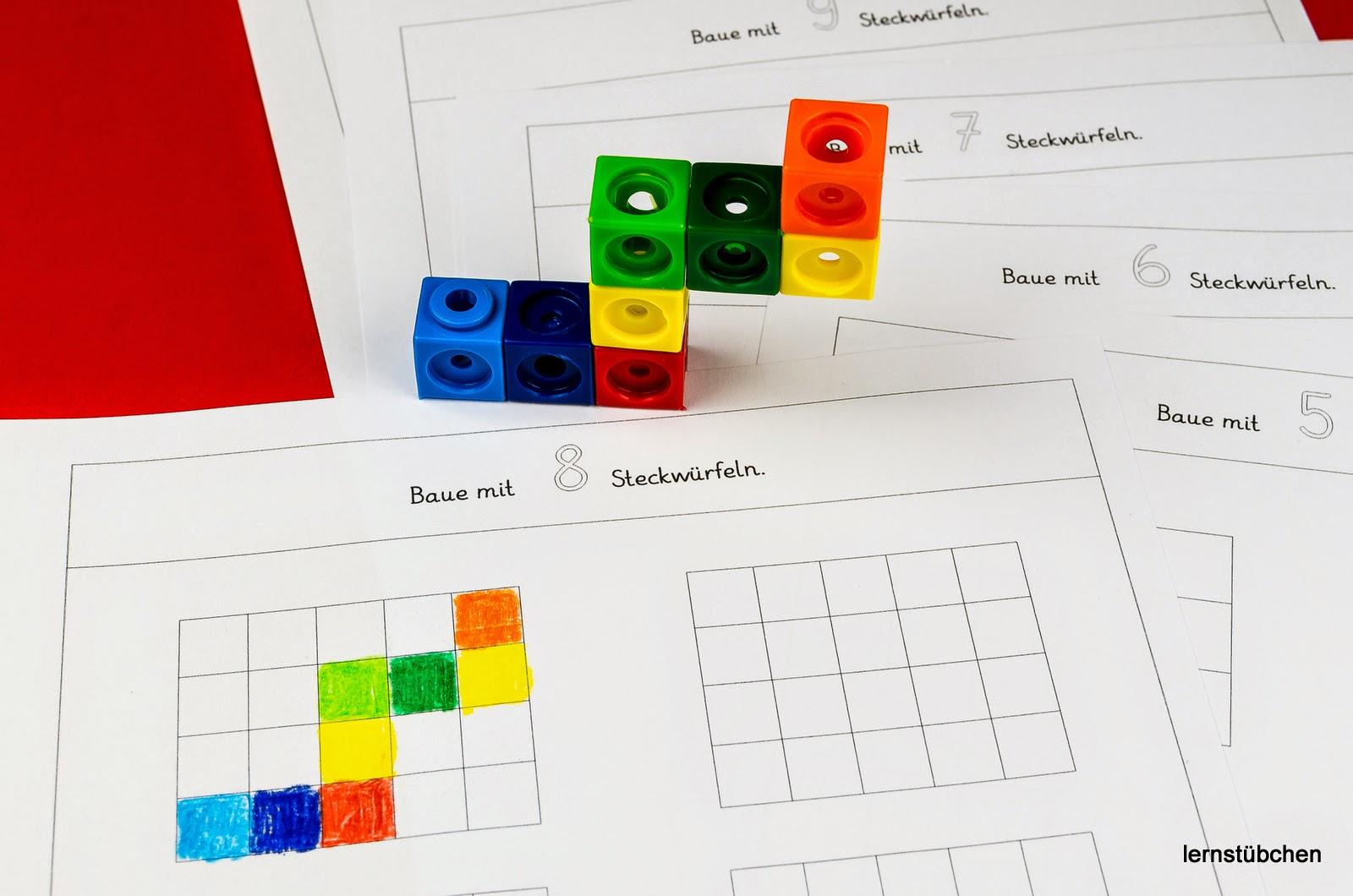 Lernstübchen: bauen mit Steckwürfeln
