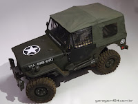 Bolha Jipe Willys Exército - USA Army Jeep 1/10