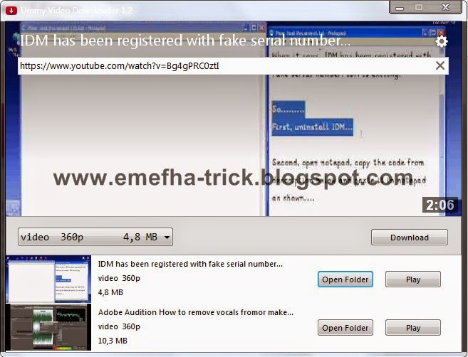 Ummy Video Downloader 1.2 Full Version | Emefha Trick ...