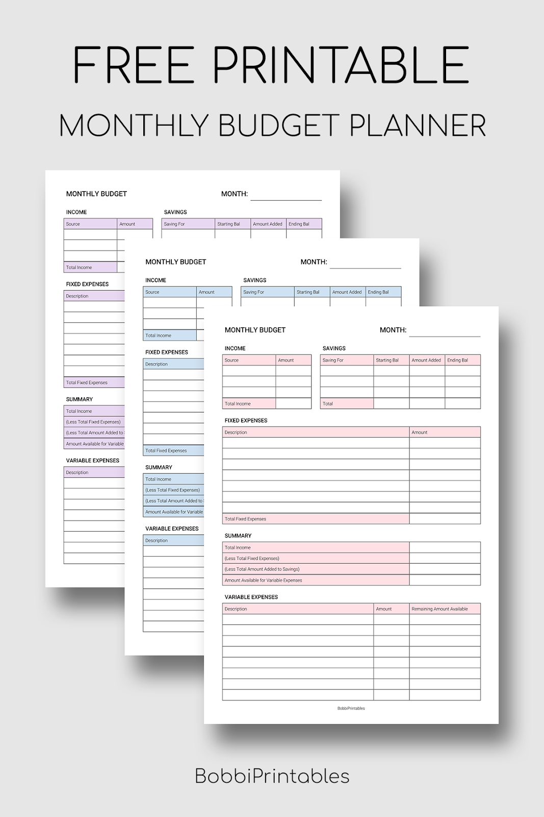It's just a photo of Printable Monthly Budget Planner pertaining to personal monthly cash flow