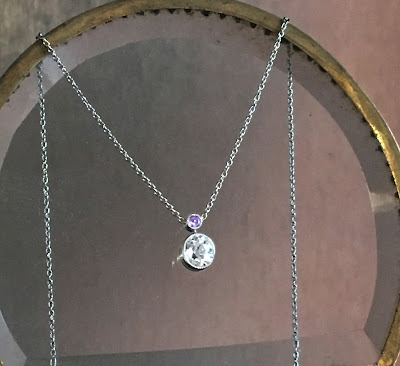 Gibbous Moon Diamond Pendant