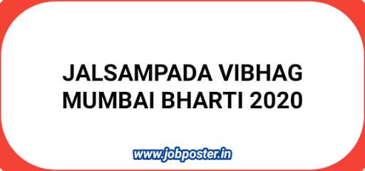 Jalsampada Vibhag Mumbai Bharti 2020 - Jobposter