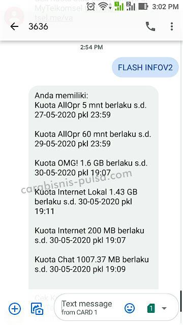 Cara cek Kuota Telkomsel OMG