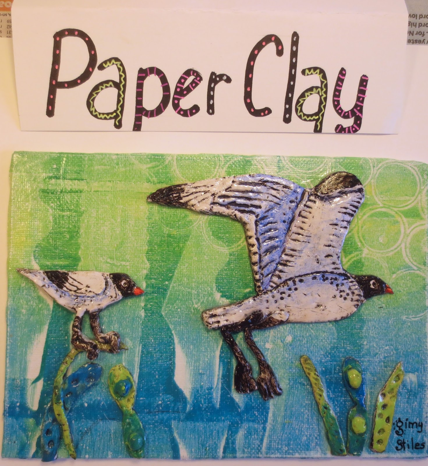 An artist labyrinth ginny stiles czt finishing the paper for Paper clay projects