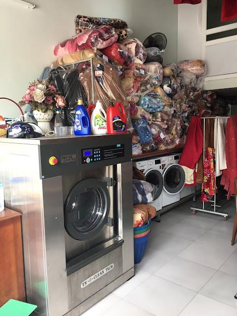 Đầu tư thiết bị giặt là công nghiệp cho tiệm giặt