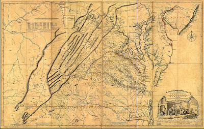 1751 Joshua Fry and Peter Jefferson Map
