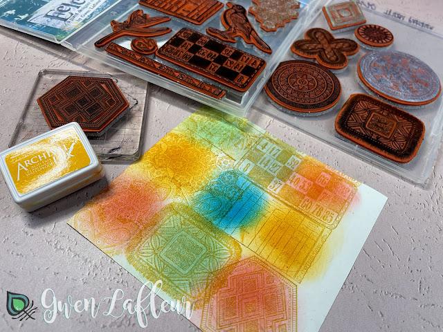DIY Stamped Stickers Tutorial Step 2 - Gwen Lafleur