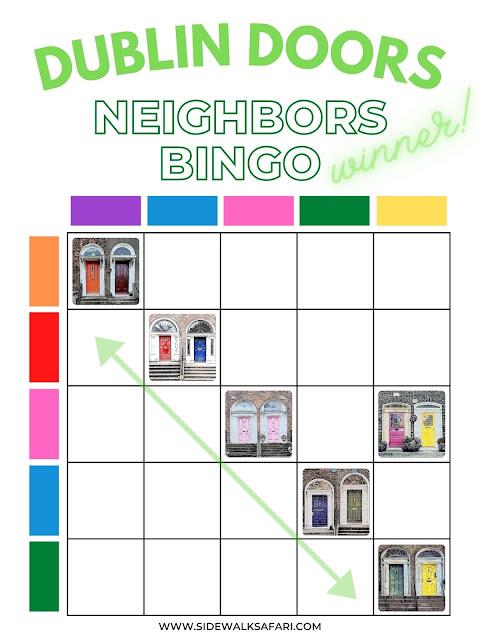 Dublin Doors Neighborhood Scavenger Hunt Bingo Card