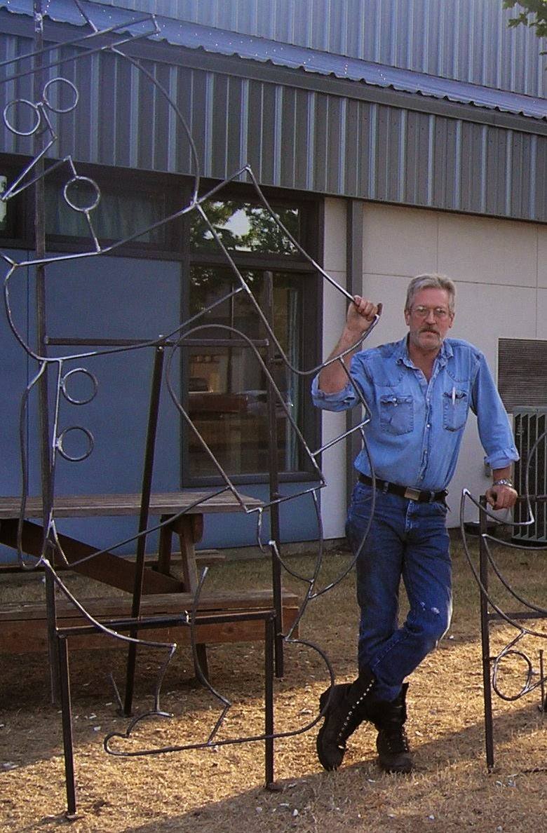 Welding student Mark Brown spent his summer crafting three displays for the 2014 Fantasy Lights.
