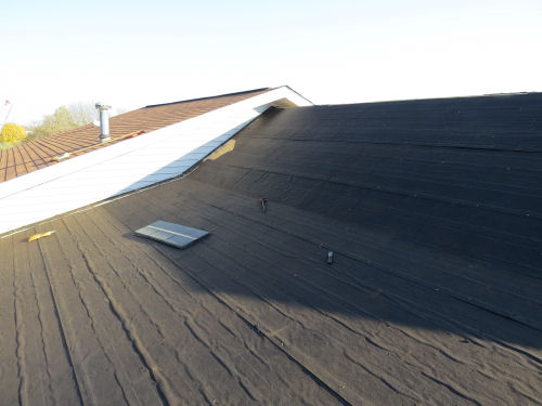 tar papered roof
