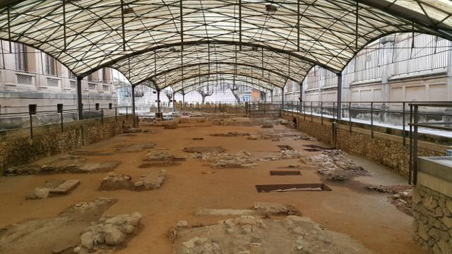 Vista del jaciment de la necròpolis