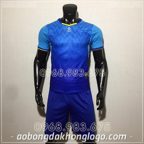 Áo bóng đá ko logo Egan Cli màu xanh dương