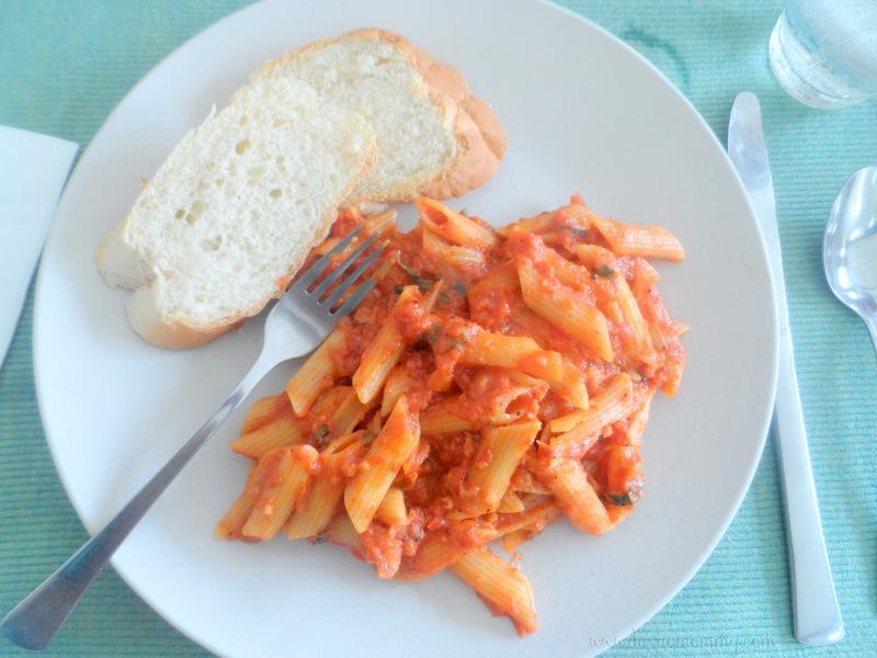 Sea Green Tomato Mozzarella Penne