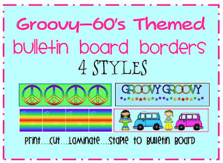 60's bulletin board borders