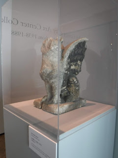 a 13th century stone griffin that was one of the Sioux City Art Center's first pieces