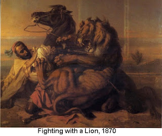 Fighting with a Lion, 1870