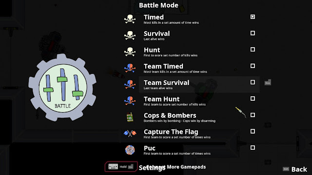 Screenshot of Game Modes in Cymatically Muffed