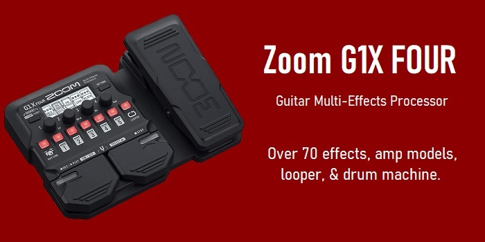 Zoom G1X FOUR Guitar Multi-Effects Processor