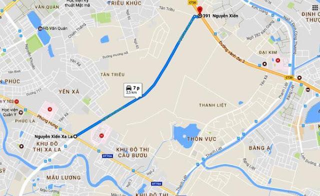 Tuyến đường huyết mạch Nguyễn xiển nối sang XaLa Hà đông