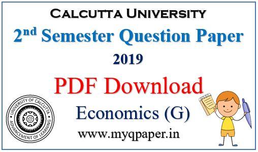 Calcutta University Economics General Question Paper 2019 PDF Download