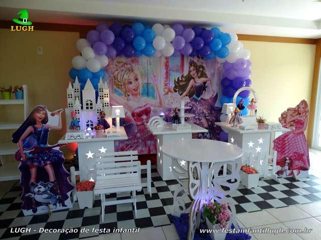 Decoração provençal - Festa de aniversário infantil feminino tema Barbie Pop Star