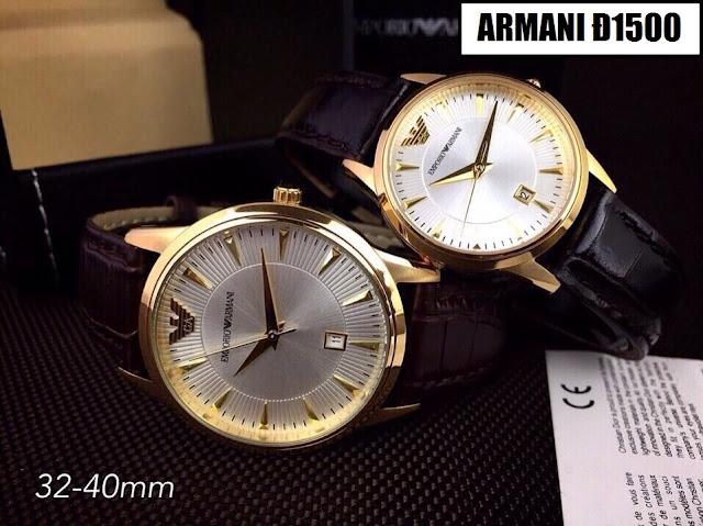 Đồng hồ dây da Armani D1500