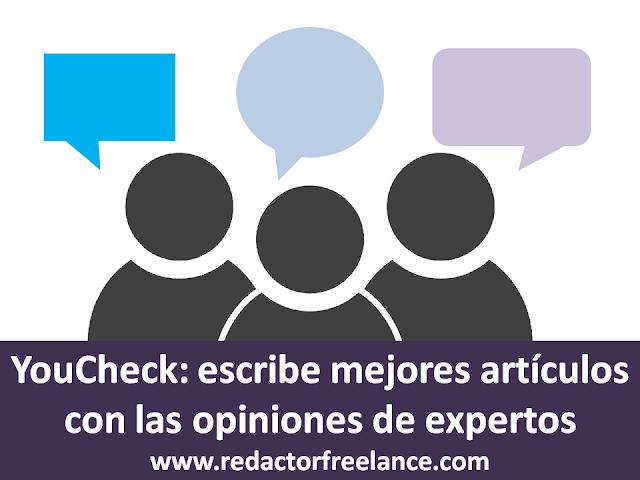 YouCheck escribe mejores artículos con las opiniones de expertos
