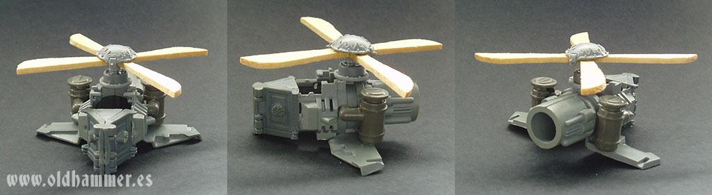 dwarf gyrocopter conversion girocoptero enano