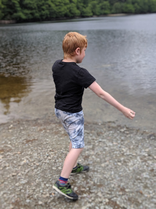 The Three Lochs Forest Drive - A Good Spot for Wild Camping with Kids  - skimming stones