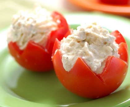 Cherry tomatoes stuffed with tuna