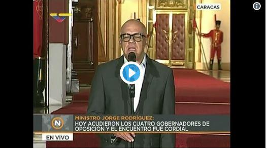 Jorge Rodríguez indicó que liberarán a los presos políticos a partir del 1 de junio
