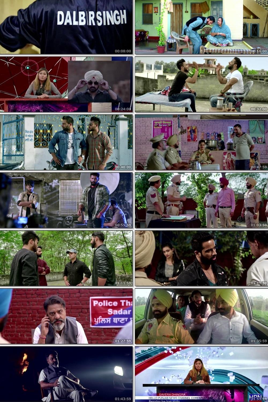 Screen Shot Of Gangster vs State 2019 300MB HDRip 480P Full Punjabi Movie Watch Online Free Download