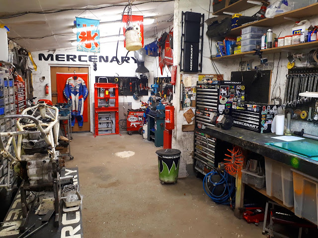 The workshop, finally tidy for the first time in four or five years.