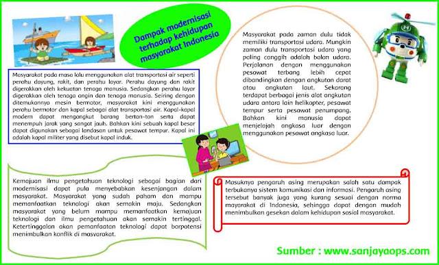 kliping dampak modernisasi terhadap kehidupan masyarakat indonesia