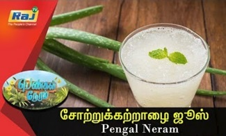 How to prepare a fresh Aloe vera Juice | Pengal Neram