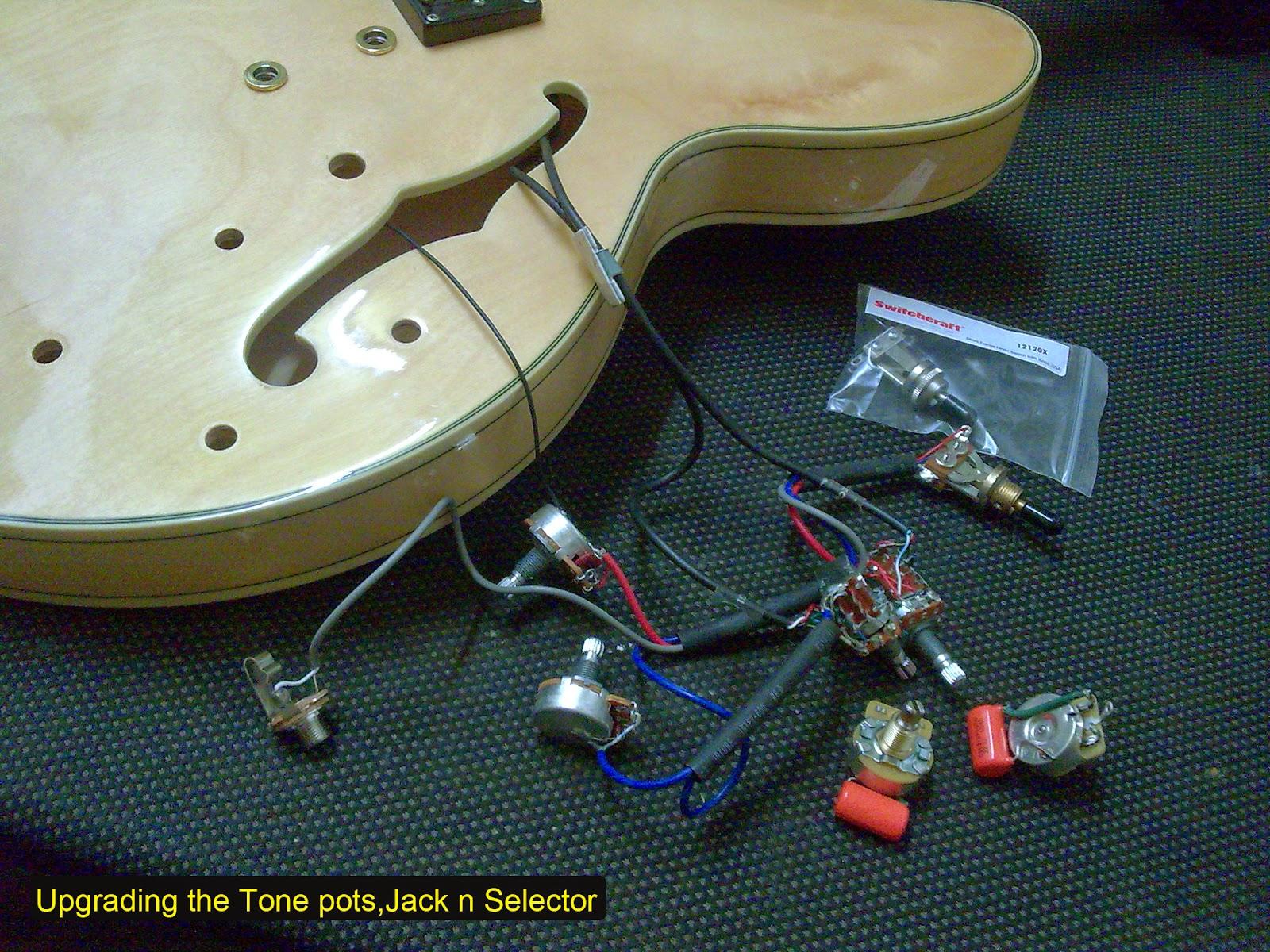 Phone Jack Wiring Diagram Membaiki Alatan Muzik Gibson Epiphone Sheraton Ii Na