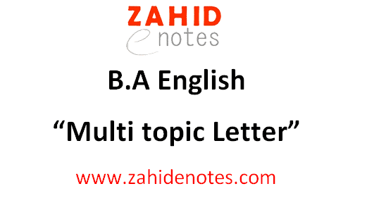 B.A English multi topic letter format